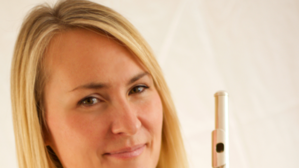 Ruth Montgomery with flute