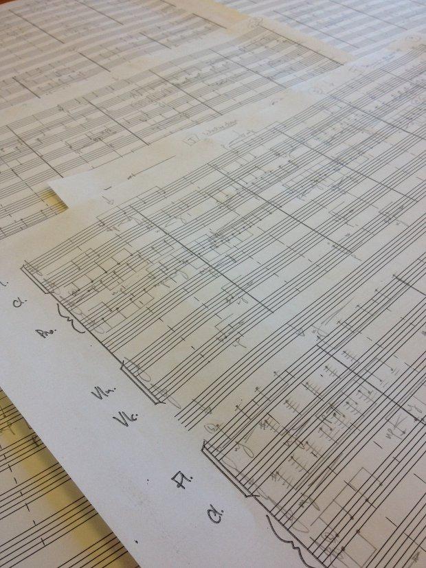 handwritten score