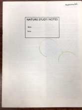 "the cover page of ""Nature Study Notes"""