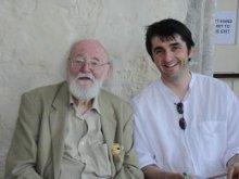 Richard Nye with the artist Eric James Mellon