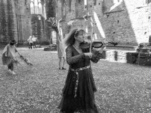 Rehearsing her 'Nature in the Ruins' in Tintern Abbey 2014