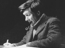 James Iliff composing, early 1970s