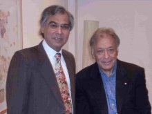 Naresh with Zubin Mehta at the premiere of 'The Divine Song', Jerusalem