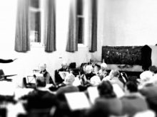 Paul G Terry - conducting rehearsal of Dreamers of Dreams, Canterbury, Kent