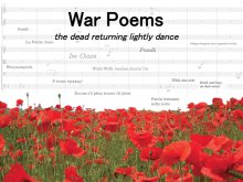 War Poems - the dead returning lightly dance