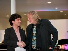 Osvaldo Glieca with Rick Wakeman - Westminster Prize for Musicianship (University of West London)